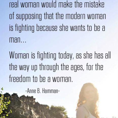 Freedom to Be a Woman