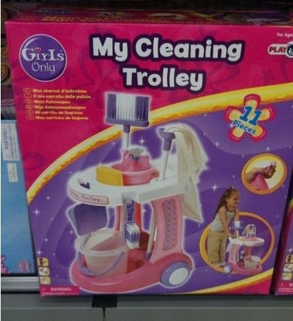 Girls Only Cleaning Trolley