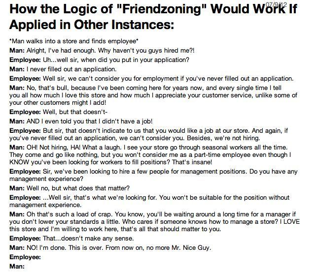 Logic of Friendzoning