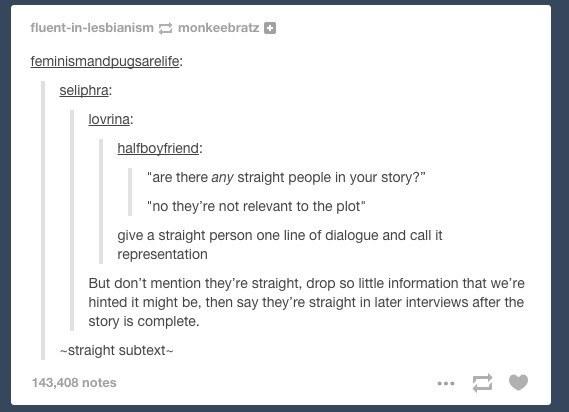Straight Subtext